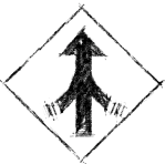 The Merge Lane Symbol - Pencil Sketch