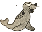 Ruston the Seal Cutout No Background